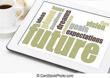 futuro, sueños, metas, y, planes