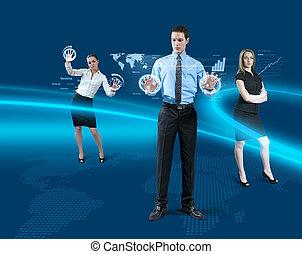 futuro, trabalho equipe, conceito