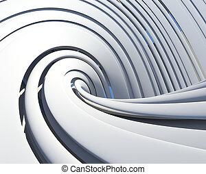 futurystyczny, architektoniczny, tło