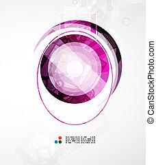 futurystyczny, koło, abstrakcyjny, tło