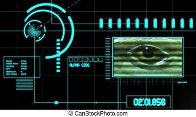 futurystyczny, wysoki tech, interfejs