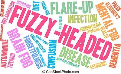 fuzzy-headed, palavra, nuvem