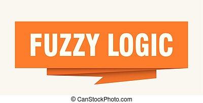 fuzzy logic sign. fuzzy logic paper origami speech bubble....