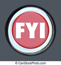 FYI For Your Information Car Start Ignition Button - FYI For...