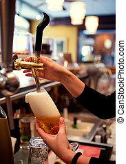 fyllande, öl, halvstop