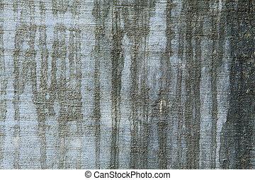 fyllda, fläckar, ram, cement, vatten, vägg, svart, grungy