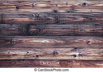 fyllda, gammal, frame., ridit ut, trä, yta