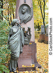 Monument to the known Russian singer in a necropolis in city Saint Petersburg