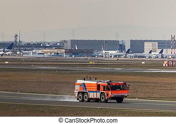 fyr fighter, lufthavn, lastbil