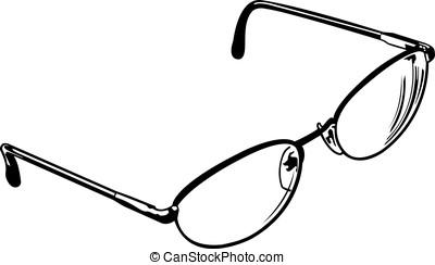 fyra, öga glasögon
