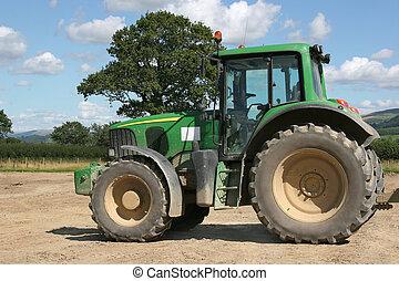 fyra hjul driv, traktor