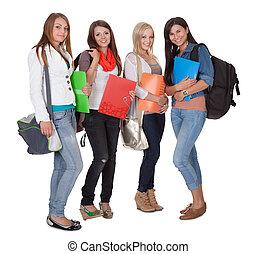 fyra, kvinnlig, deltagare