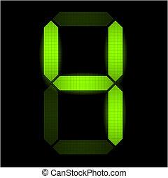 fyra, numrera, digital