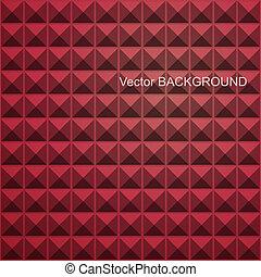 fyrkant, abstrakt, röd, mosaik, seamless, bakgrund.