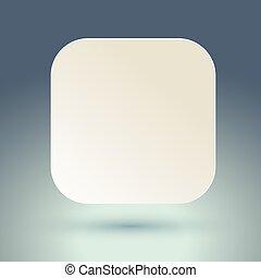 fyrkant, button., tom