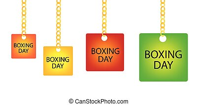 fyrkant, kedja, boxning, etikett, holdingen, dag, goldenl