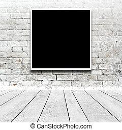 fyrkant, konst, vägg hängande, målning, galleri