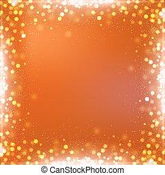 fyrkant, lutning, halloween, bokeh, bakgrund, apelsin gräns
