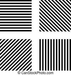 fyrkant, mönster, sätta, mall, randig