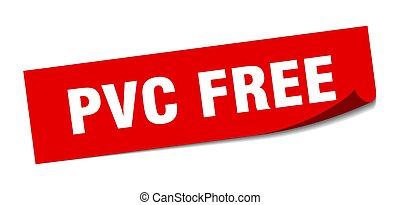 fyrkant, skalare, isolerat, skylt., gratis, sticker., pvc, ...