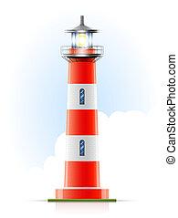 fyrtårn, marin, signal