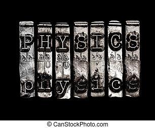fysik, ord