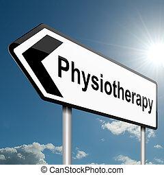 fysioterapi, concept.