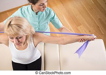 fysiotherapeut, aanzicht