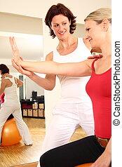 fysiotherapeut, doorwerken, arm, schouder, nack, pijn