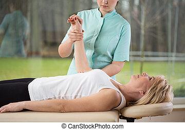 fysiotherapeut, patiënt