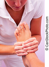 fysiotherapie, voet, reflexology