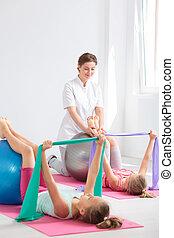 fysiotherapie, voor, kinderen