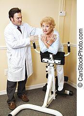 fysisk, kiropraktik terapi