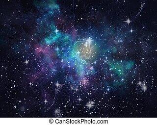 fysisk, planet, kosmologi, wallpaper., galax, vetenskap, ...