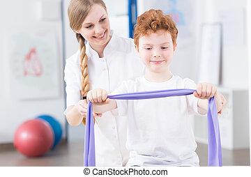 fysisk, träningen, kan, vara, verklig, nöje