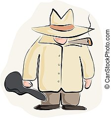 gángster, caricatura