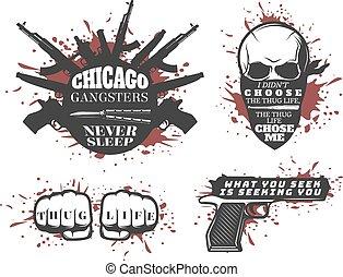 gángster, conjunto, chicago, citas