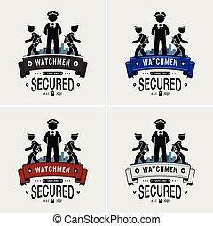 gárdisták, jel, biztonság, design.