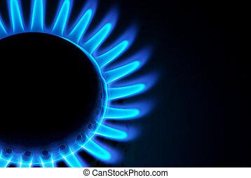 gás, chamas