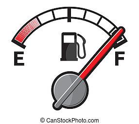 gás, cheio, tanque