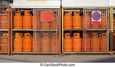 gás, cilindros, lpg