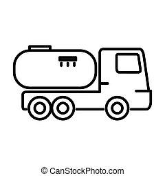 gás, desenho, caminhão, ilustração