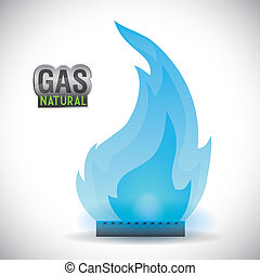 gás, natural, desenho