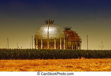 gás, tanques armazenamento