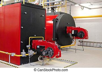 gáz, boilers