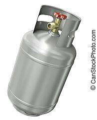 gáz, konténer
