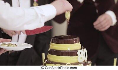 gâteau, 80, anniversaire, années