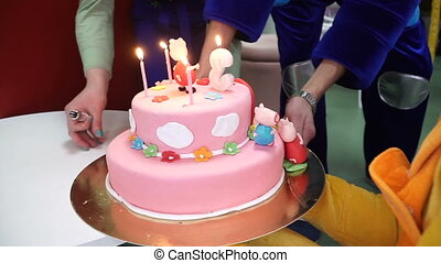 gâteau, anniversaire, cake.