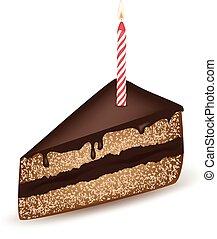 gâteau, anniversaire, chocolat