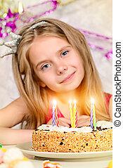 gâteau, anniversaire